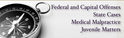 Medical malpractice, traffic infractions, juvenile matters, federal criminal